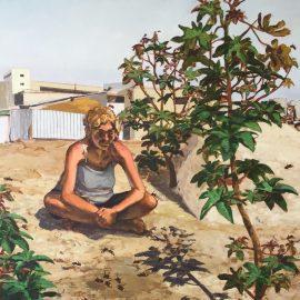 ״צרעות״, שמן על בד, עלמה יצחקי
