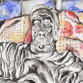 """נועם עומר, ״אותלו״, 90x90 ס""""מ, אקריליק על בד, 2011"""