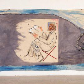 """מיכאל סגן-כהן, פרט מתוך """"לוויתן"""", 1983, אקריליק על בד, מוזיאון ישראל, אוסף ורה וארטורו שוורץ לאמנות ישראלית"""