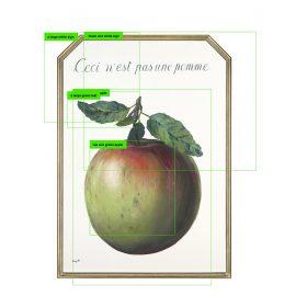 """רנה מגריט, Ceci n'est pas une pomme (""""זה לא תפוח""""), 1964"""