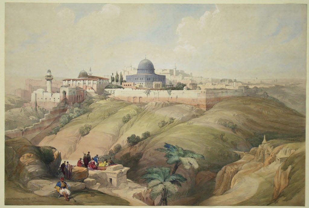 """דייויד רוברטס, """"ירושלים, העיר העתיקה"""", הדפס, 1839"""