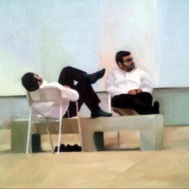 """רננה שלמון, """"מנוחת הלוחמים"""", 30X40 ס""""מ, שמן על בד, 2013"""