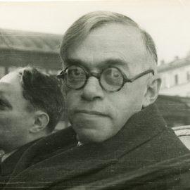 """זאב ז'בוטינסקי בוועידת הצה""""ר, ורשה, 1937 (באדיבות ארכיון מכון ז'בוטינסקי)"""